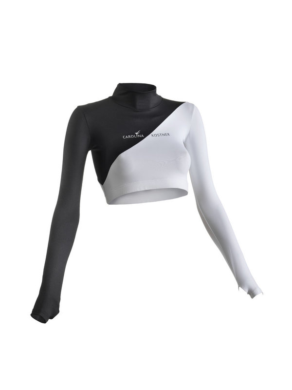 ICENONICE Cropped top black & white